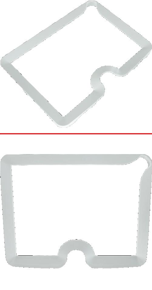 Пластмассовый карниз для аквабокса